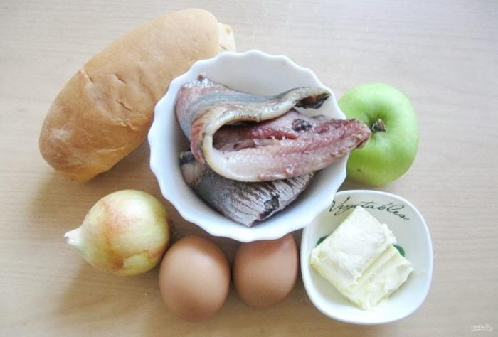 Форшмак из селедки и яблока