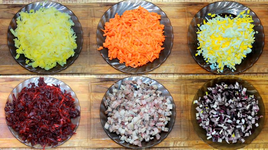Селедка под шубой – классический пошаговый рецепт слоев в последовательности