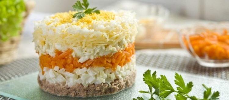 салат мимоза с горбушей рецепт классический