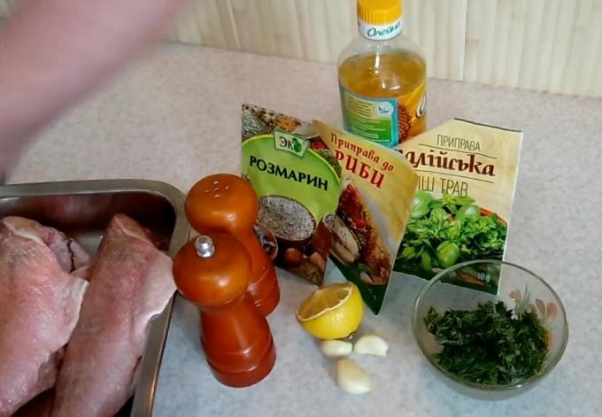 Морской окунь в духовке - ингредиенты
