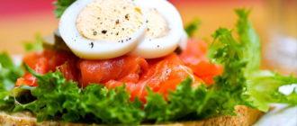 бутерброды с семгой рецепты