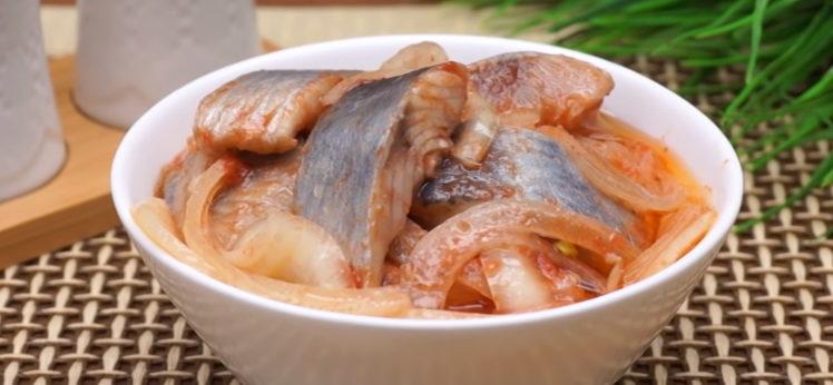селедка по-корейски в домашних условиях