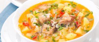 Суп из рыбы минтай