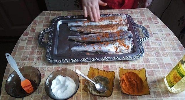 Действия с рыбой