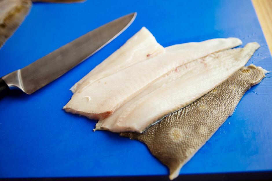 Чистка замороженной рыбы