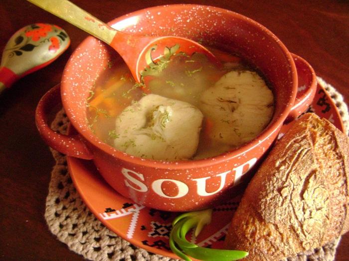 Рыбный супиз хека с рисом