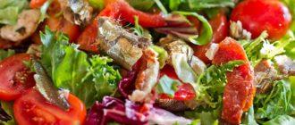 салат из кильки в томатном соусе