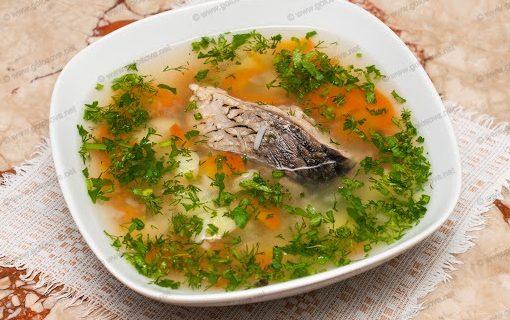 Рецепт Уха из сазана с пшеном