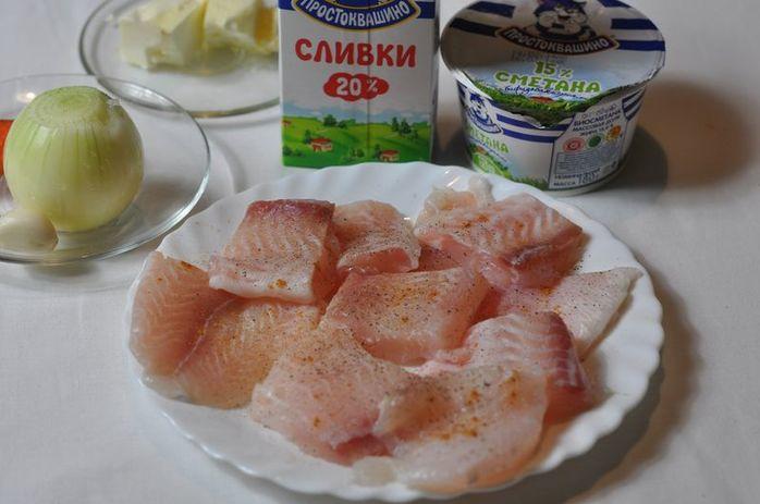Филе пангасиуса под сметанным соусом 1