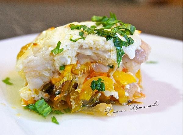 Филе пангасиуса запеченное в духовке