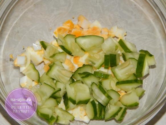 Рецепт салата с консервированным тунцом и рисом 1