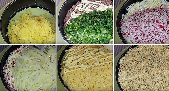 салат с тунцом и майонезом