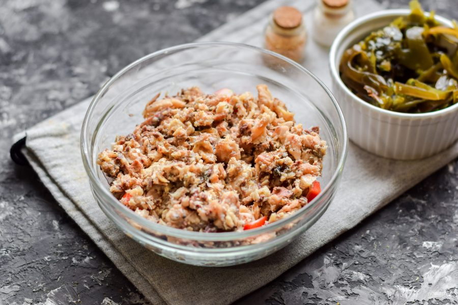 Как приготовить Салат Морское дно с морской капустой4