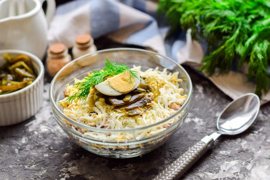 Как приготовить Салат Морское дно с морской капустой6