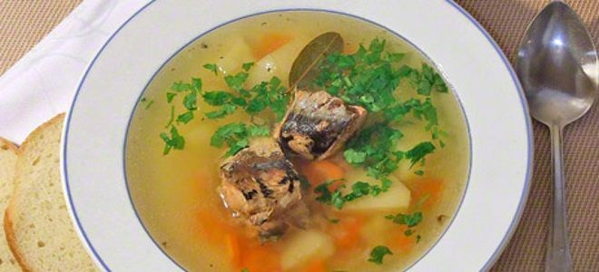 рыбный суп из консервов иваси
