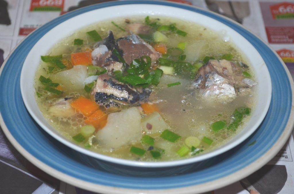 рыбный суп из консервов пошаговый рецепт