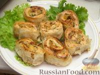 Фото приготовления рецепта: Запеченные рулеты из семги в лаваше - шаг №11