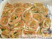 Фото приготовления рецепта: Запеченные рулеты из семги в лаваше - шаг №10