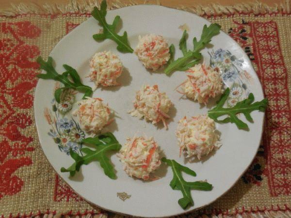 Рафаэлло из крабовых палочек и сыра – рецепты приготовления