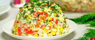 Какие салаты можно приготовить из крабовых палочек