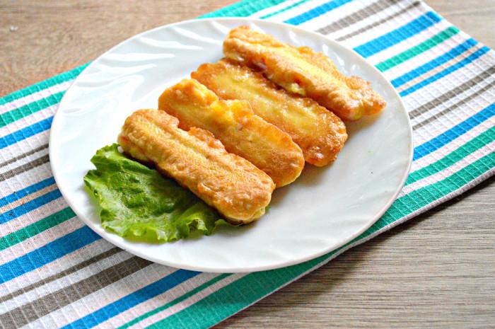 Крабовые палочки в кляре с майонезом - простая и вкусная закуска