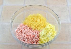 Крабовые шарики с сыром - фото шаг 4