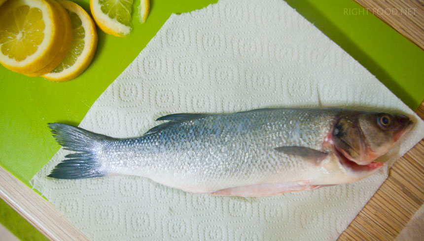 Запеченный Сибас в духовке с овощами. Пошаговый рецепт с фото width=