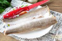 Фото приготовления рецепта: Рыба, запечённая с картошкой и лимоном (в фольге) - шаг №3