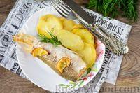Фото приготовления рецепта: Рыба, запечённая с картошкой и лимоном (в фольге) - шаг №8