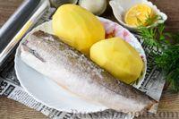 Фото приготовления рецепта: Рыба, запечённая с картошкой и лимоном (в фольге) - шаг №1