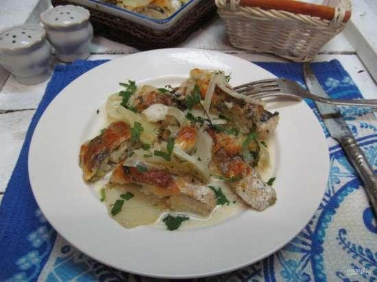 Хек в духовке с картошкой - вкусные рецепты на нашем сайте