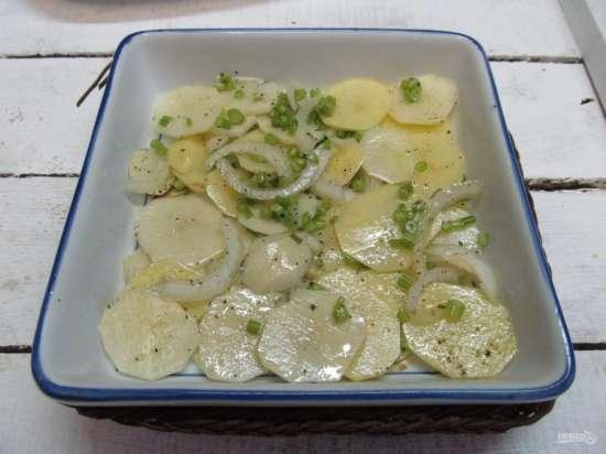 Как приготовить хек в духовке с картошкой 3