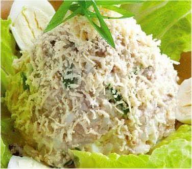 Салат из печени минтая - фото