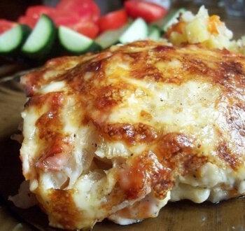 Филе рыбы с картошкой в духовке