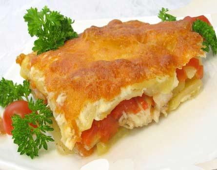 Рыба в духовке с сыром и майонезом запеченная