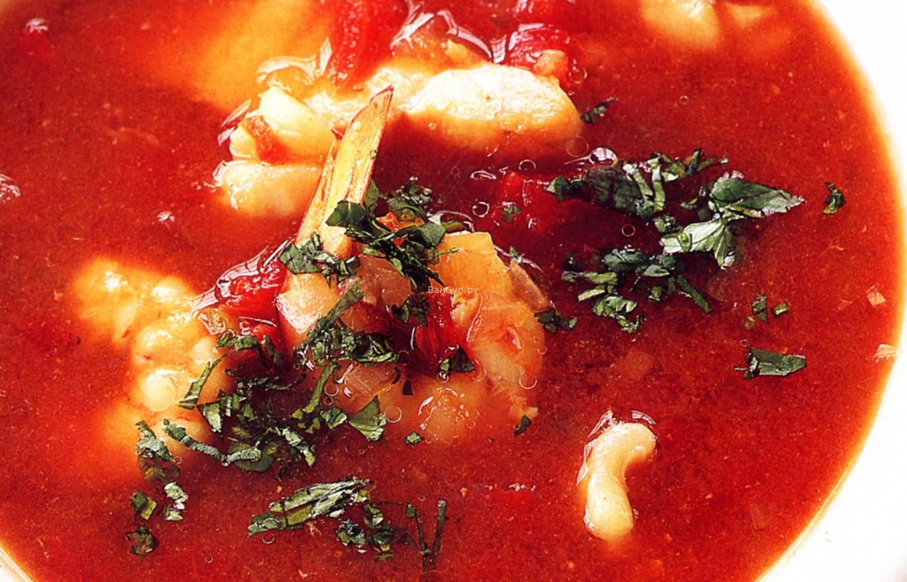 Суп из сардин в томатном соусе