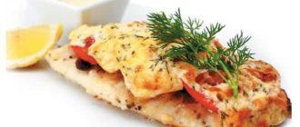 Рыба запеченная с сыром в духовке