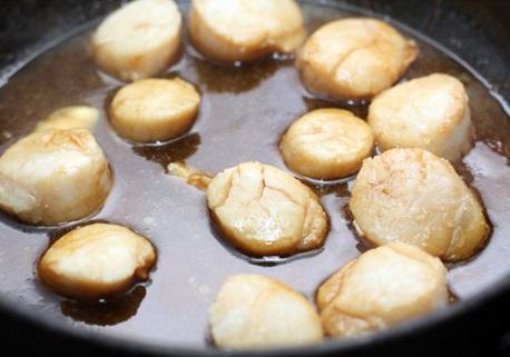 Способ приготовления морских гребешков