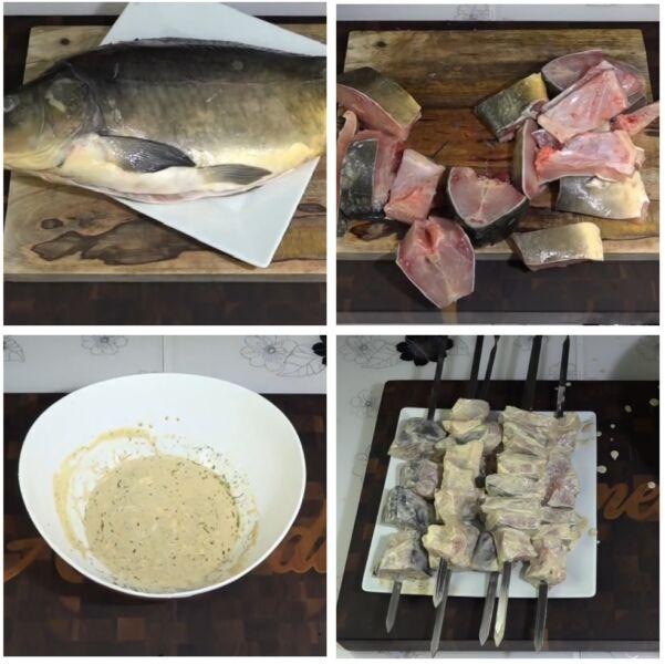 Шашлык из рыбы на мангале. Какую рыбу выбрать и как приготовить шашлык из рыбы этап 2