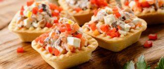 Тарталетки с начинкой рецепты простые и вкусные